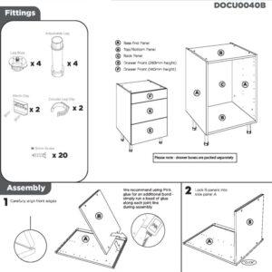 3 Drawer Base Cabinet Instructions