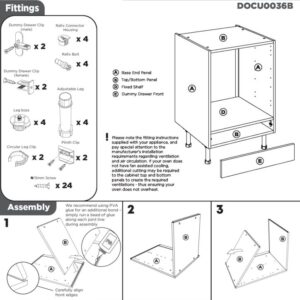 Built Under Oven Cabinet Instructions